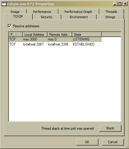 ruby process blocking port 3000